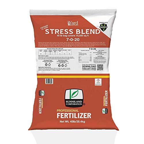 7-0-20 Summer Lawn and Turf Stress Granular Fertilizer Blend (with Bio-Nite 45lb Bag - Covers 15,000 Square Feet - 7% Nitrogen - 3% Iron - 20% Potash - Safe for All Lawns - Apply All Year Round