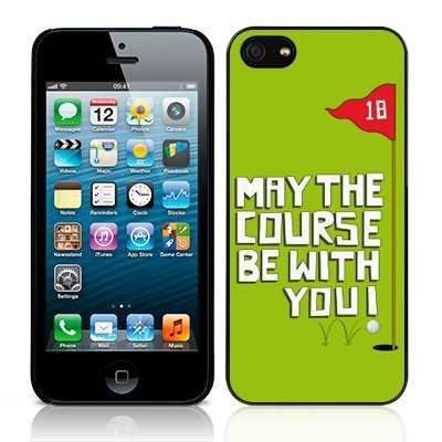 Call Golf Collection Candy Possono Il Percorso Sia con Te SE-Cover per Apple iPhone 5/5s, Colore: Verde