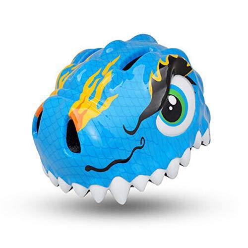 YYYY Casco para niños, Casco de Dinosaurio, Ajustable, Cómodo, Niño y niña...