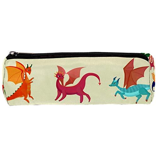 Estuche de lápices de dragones con cremallera, organizador de monedas, bolsa de papelería, bolsa de maquillaje para mujeres, adolescentes, niñas, niños y niños