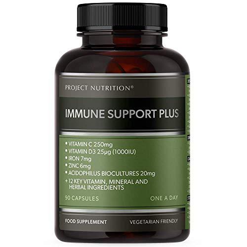 Vitamin D Multivitamin - Immune Booster Complex - 17 Key Vitamins, Minerals & Herbs - 3 Months Supply - One a Day - Vitamins B6, B12, C, D3, K2, Iron, Selenium, Zinc, Turmeric & Probiotics