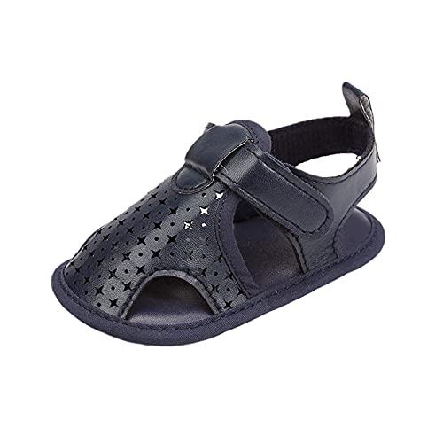 Zapatos para bebé, sandalias de verano, zapatos de baño para niños pequeños, cómodos, suelos, zapatos de verano, zapatos para aprender a caminar, zapatos de princesa., marine, 22