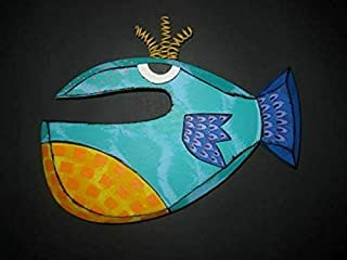 Kinks & Quirks Medium Whimsical Fish Wall Art by Tra Art Studio #69…
