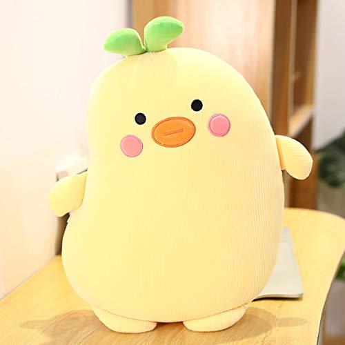 longsing Throw Pillow Plush Stuffed Toys Hug Pillows Cute Bean-shaped Plush Cushions Super Soft Kids Gifts Home Sofa Bedding Colorful Cushion (Color : Yellow, Size : M size)