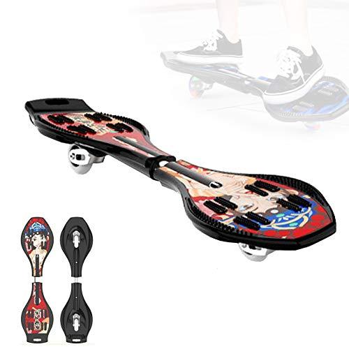 Grist CC Street Surfing Waveboard, Chinesischer Stil Doppelrad Torsion Skateboard, Air Balancing Swing Snakeboard, Belastbar Bis 90Kg,B