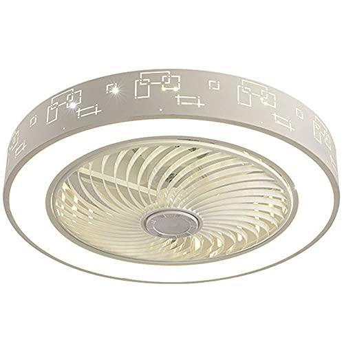 MAVL Ventilador de Techo con luz, 20 Pulgadas / 24 Pulgadas LED Control Remoto LED Totalmente Regulables Modos de iluminación Invisibles Acrílicos Semi Flush Mount de Perfil bajo Fan (Size : 24in)