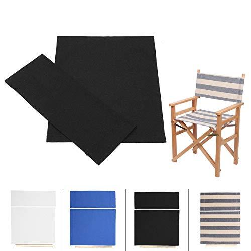 A0ZBZ Funda para silla de director, portátil, plegable, funda de lona de repuesto para sillas de director, 1 par (negro)