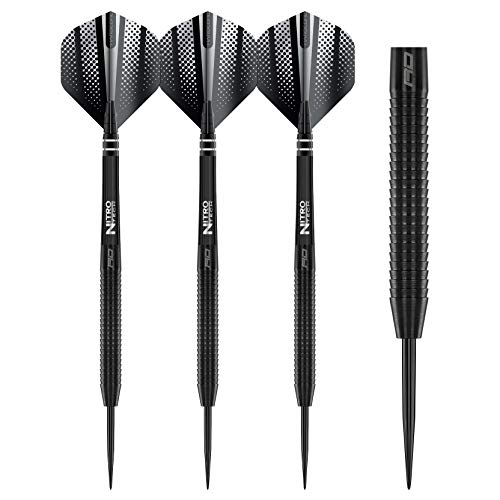RED DRAGON Razor Edge Black 24g Tungsten Darts with Flights and Stems