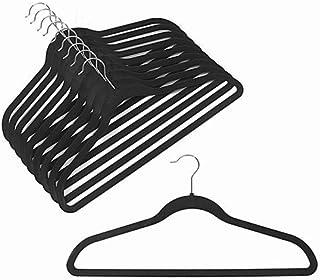 Velvet Coat Hangers - Velvet Suit Hangers (50-pack) Non-Slip Space Saving Chrome Metal Hook Strong and Durable Clothes Han...