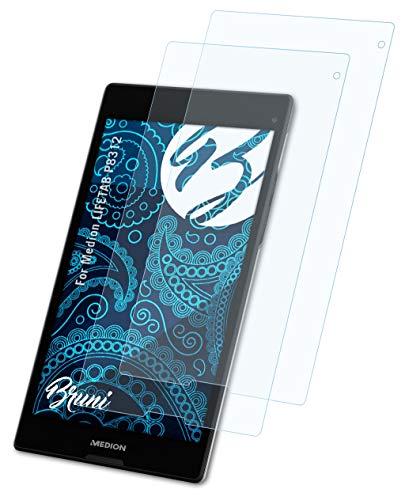 Bruni Schutzfolie kompatibel mit Medion LIFETAB P8312 Folie, glasklare Bildschirmschutzfolie (2X)