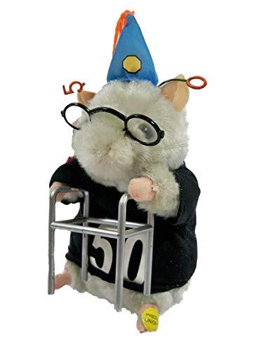 Gemmy Dancing Hamster 50th Birthday Electronic Plush