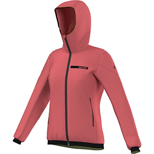 adidas Outdoor Women's Terrex Ndosphere II Flex Hooded Jacket, Super Blush, Small