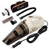 Owme Car Vacuum Cleaner with Device Portable and High Power Plastic 12V Stronger Suction for All Types Wet and Dry with Carry Bag (White)-2001 light weight vacuum cleaners Oct, 2020