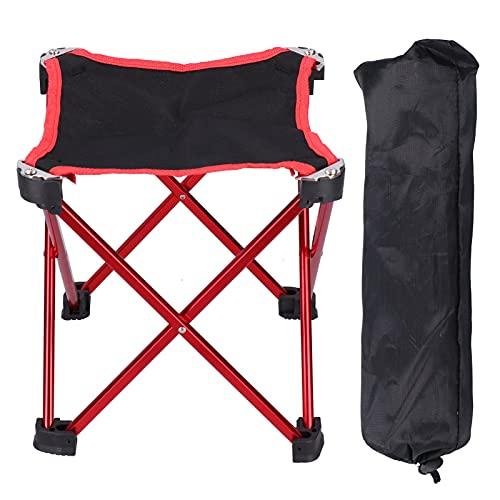 Taburete de camping, taburete de jardín plegable Taburete de campamento portátil Altura 28.5x7.5x7.5cm / 11.2x3.0x3.0in Fácil de transportar para acampar Pesca Senderismo Jardinería Viajes Senderismo