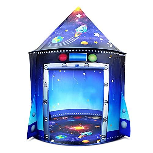 LGW Tienda Infantil - Tienda Infantil Portátil Bebé Play Casa Espacio Rocket Castle Tienda Adut Atomy BOJOS Y NIÑAS