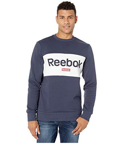 Reebok Herren Training Essentails Big Logo Crew Sweatshirt mit Rundhalsabschnitt, Heritage Navy, Large
