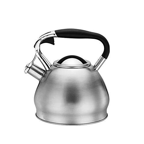 Théière XINYALAMP Stovetop Bouilloire ménage, Acier Inoxydable Bouilloire Stovetop avec poignée Isolation Coffre-Fort à Induction gaz HOB Teapot for Tous Accueil Camping Une cuisinière