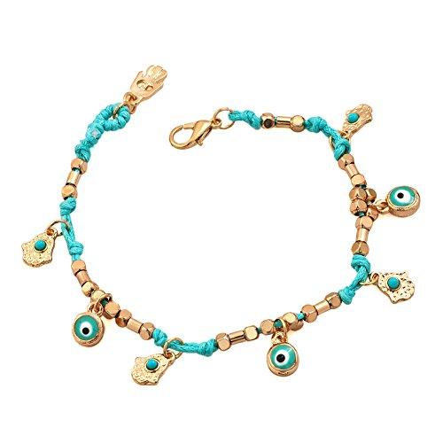 JewelryHouse Evil Eye Turkish Protection Macrame Jewelry Hamsa Hand Bracelet