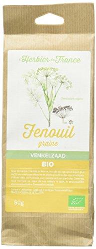 L'Herbier de France Fenouil Graines Bio Sachet Kraft 50 g