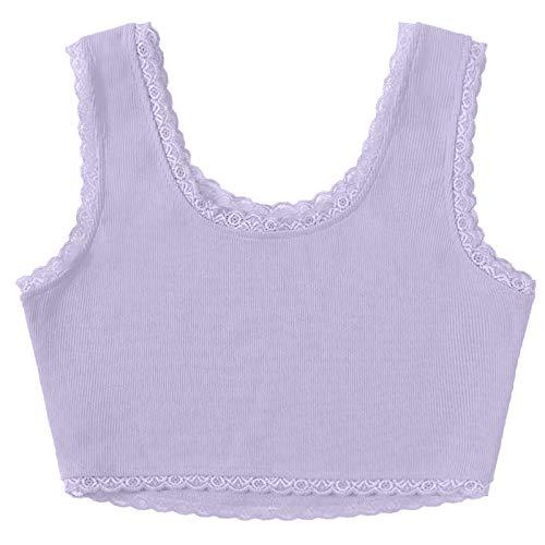 Janly Clearance Sale Blusa para mujer, mujer, sin mangas, de encaje, sin mangas, para Pascua, Día de San Patricio, morado