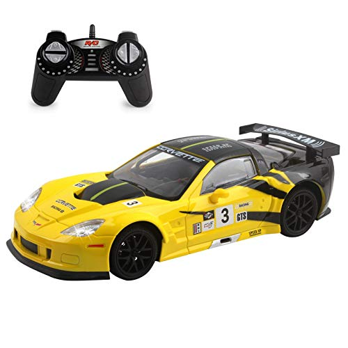 Vokodo RC Super Car 1:18 Scale Remote Control Full Function with Working LED Headlights Easy to Operate Kids Toy Race Vehicle Perfect Exotic Sports Model Great Gift for Children Boys Girls