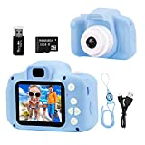 NIAGUOJI Kids Camera, Mini Appareil Photo numérique Rechargeable pour Enfant Cadeaux de caméscope vidéo Antichoc pour garçons de 3 à 8 Ans, écran vidéo HD 8MP 2 Pouces pour (Carte de 32 Go Incluse)