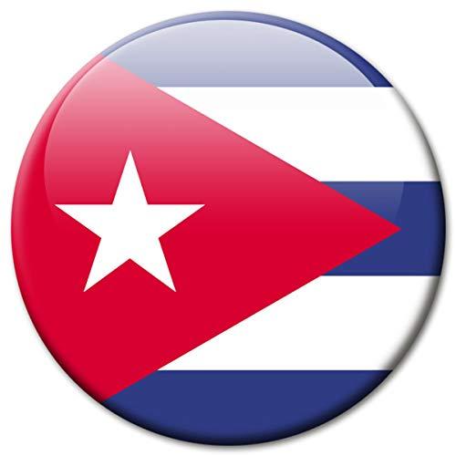 Kühlschrankmagnet Flagge Kuba Magnet Länder Flaggen Reise Souvenir Cuba für Kühlschrank stark groß 50 mm