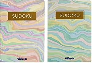 Set of 2 Sudoku Puzzle Books - Sudoku and Word Search Books - Over 220 Puzzles Per Book! (Sudoku Set)