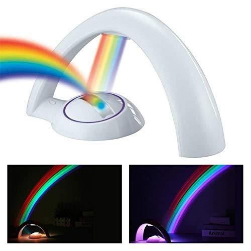 sunzhenhao Proyector de Arco Iris Led - Proyector de Arco Iris Reflejo de Luz Led - Fabricante de Arco Iris para Regalo de Niños