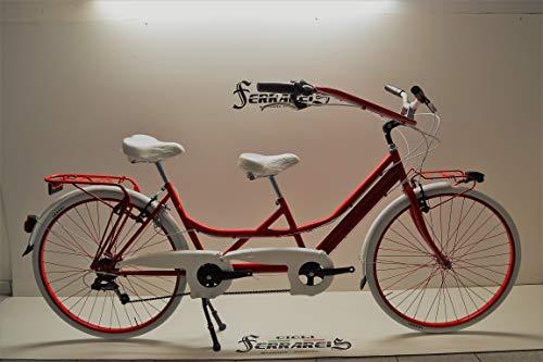 Cicli Ferrareis Tandem 28 Rosso RISCIO Bici BIPOSTO BICICLETTA PERSONALIZZABILE