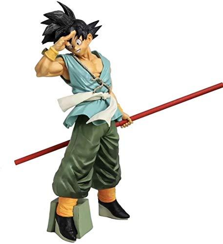 Mdcgok 35CM Dragon Ball Action Figure Son Goku Statue Monkey-King-Bar Goku Souvenir Collectibles Anime Decorations Model Puppet For Gift Son Goku