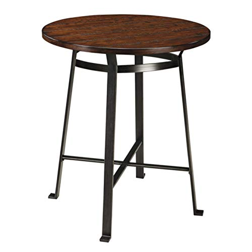 Signature Design by Ashley Challiman Rustic Brown Round Dining Room Counter Table