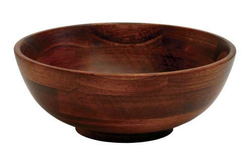 Lipper International Cherry Finished Footed Serving Bowl for Fruits or Salads, Small, 7' Diameter x 2.75' Height, Single Bowl
