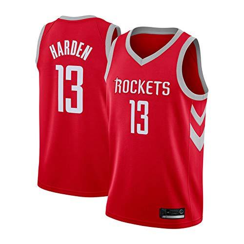 OLIS Maglia da Uomo Jersey NBA Houston Rockets 13# Harden Maglia da Basket Swingman Jersey