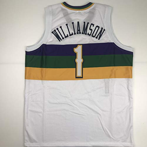 Unsigned Zion Williamson New Orleans City Edition White Custom Stitched Basketball Jersey Size Men's XL New No Brands/Logos