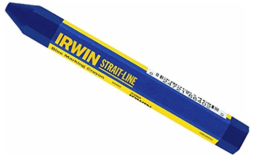 24 Pack Irwin 66402 Strait-Line 4-1/2' Blue Marking Lumber Crayons
