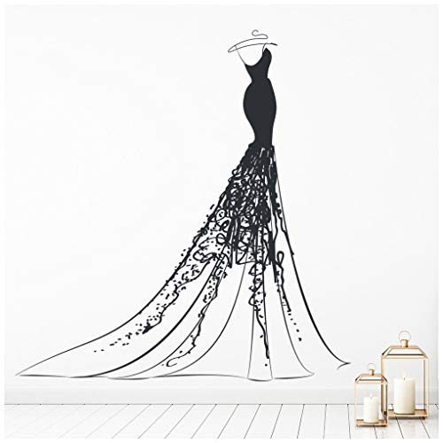 azutura Prinzessin Ballkleid Kleid Wandtattoo verfügbar in 5 Größen und 25 Farben Hell Blau