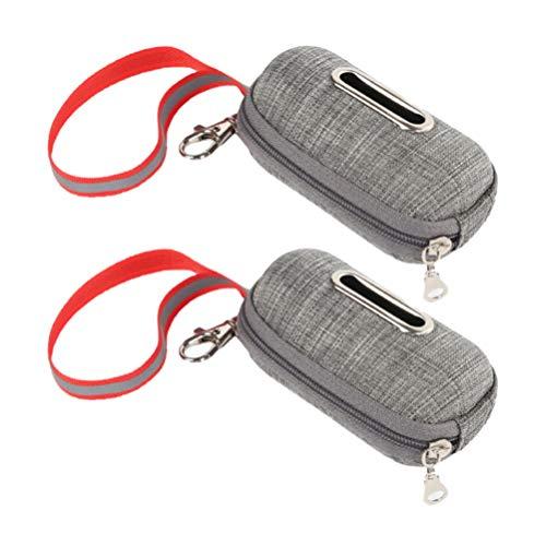 Balacoo 2Pcs Bolsas de Recogida de Caca de Perro Soporte Dispensador de Bolsas de Desechos de Perro con Clip de Correa Accesorio de Bolsas de Pañales Distribuidor para Cuna Coche Perro