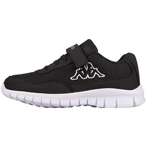 Kappa Jungen Unisex Kinder Follow Sneaker, Schwarz, 28 EU