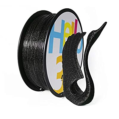 Hello3D PLA 3D Printer Filament Galaxy Black, 3D Printing Filament 1.75mm Glitter PLA Filament Sparkle Shining Black, 1KG (2.2lbs) Spool