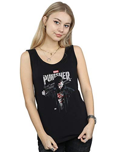 Marvel Mujer The Punisher TV Series Frank Castle Camiseta Sin Mangas Negro Small