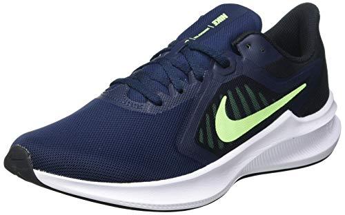 Nike Downshifter 10, Scarpe da Corsa Uomo, Obsidian/Lime Glow-Black, 44 EU