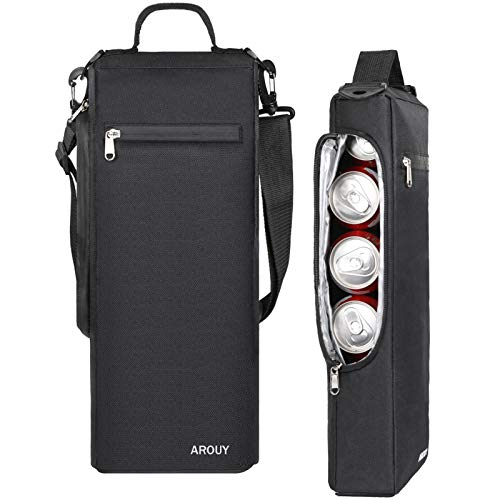 AROUY Golf Cooler Bag - Golf Accessories for Men and Small Soft Cooler Bags Insulated Beer Cooler Holds a 6 Pack of Cans or Two Bottles of Wine, Golf Sports Bags