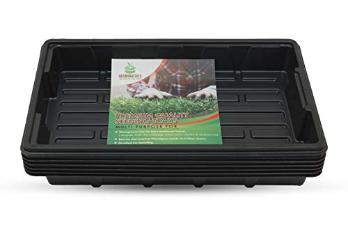 Germinator-6 Pack Premium Quality Seedling Trays, Microgreens Growing Trays -NO Holes, Durable...