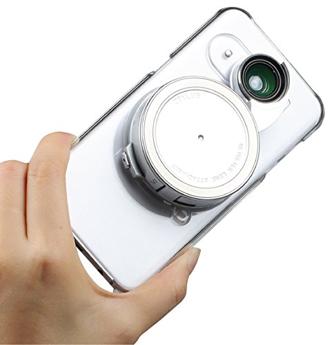 Ztylus Samsung Galaxy S7 Clear Camera Kit for Smartphone Photo & Video: Case, 4 in 1 Revolver Lens (Wide Angle, Macro, Fisheye, and CPL Lenses) (Clear)