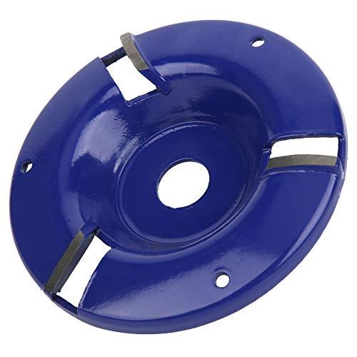 Disco de tallado Turbo de madera, amoladora de tocón de 3 dientes, cortador de fresado de plano de madera, herramienta de disco de tallado de madera para amoladora angular(Azul)