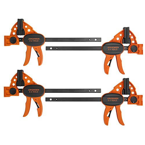 "Jorgensen 6"" Spreader/Bar Clamp Set, 4-pack,One-Hand Light Duty E-Z Hold Clamp/Spreader, 99216A"