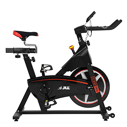 JLL IC300 PRO Indoor Cycling Exercise Bike, Direct Belt Driven 20kg Flywheel, Magnetic...