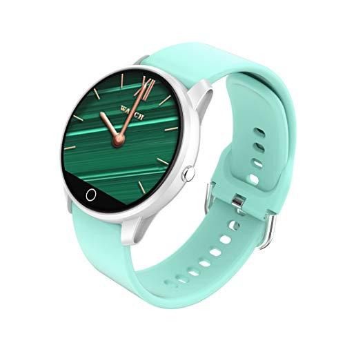 BIGCHINAMALL Smartwatch Donna,Femminile Orologio Fitness Tracker Cardiofrequenzimetro Sonno Contapassi Cronometro Notifiche Messaggi (Menta 1)