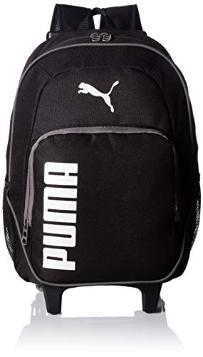 PUMA Big Kids' Axis Wheelie Backpack, Black/Silver, OS
